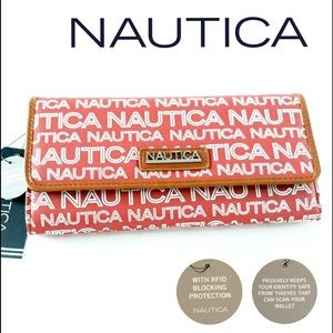 NAUTICA Trifold RFID Blocking Wallet Protection